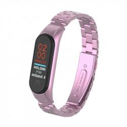 Металлический браслет Xiaomi Mi Band 4 (Розовый)
