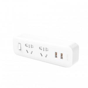 Тройник Xiaomi Mi Power Strip (2 розетки+2 USB, белый)