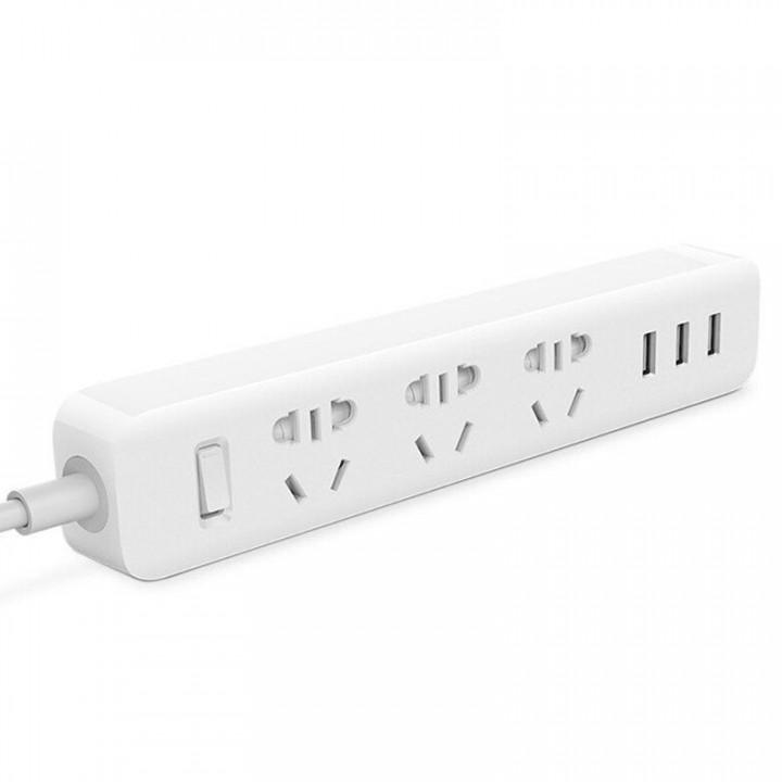 Удлинитель Xiaomi Mi Power Strip (3 розетки+3 USB, белый) (XMCXB01QM)