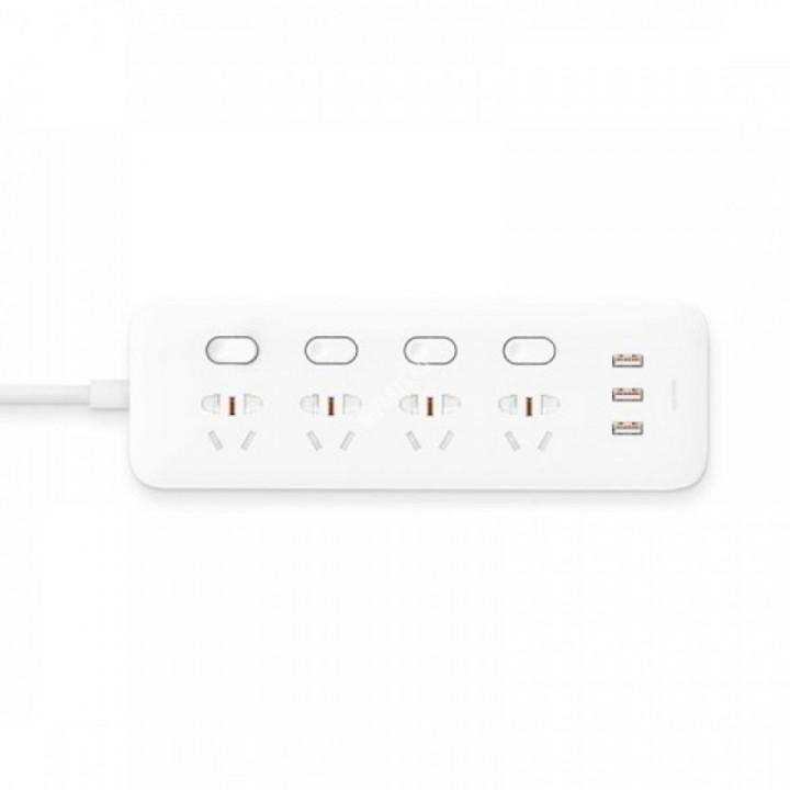 Удлинитель Xiaomi Mi Power Strip (4 розетки+3 USB, белый) (NRB4023CN)