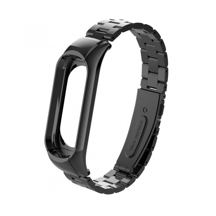 Металлический браслет Mi Band 3 (Черный)