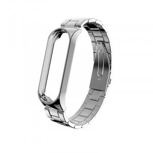 Металлический браслет Mi Band 3 (Серебро)