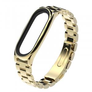 Металлический браслет Mi Band 3 (Золотой)