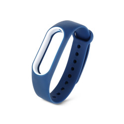 Ремешок для Mi Band 2 синий-белый