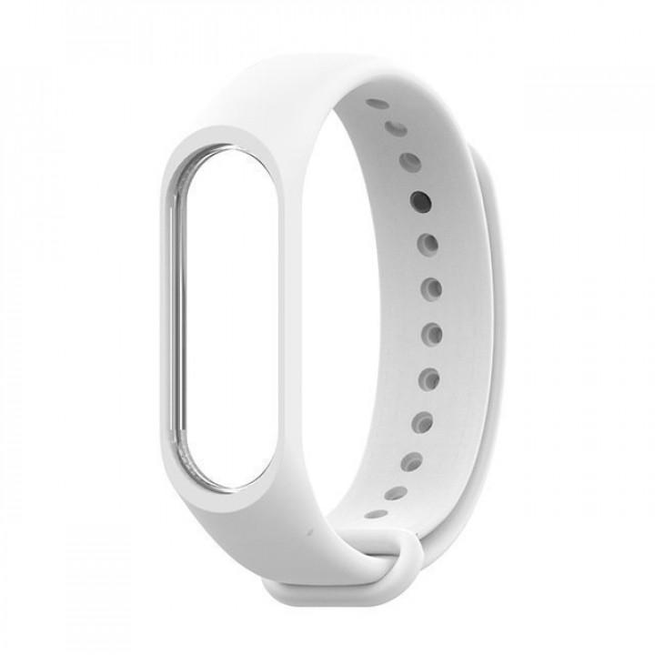 Силиконовый ремешок Mi Band 3 (Белый)