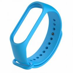 Силиконовый ремешок Mi Band 3/ Mi Band 4 (Голубой)