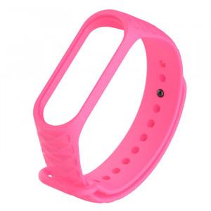 Силиконовый ремешок Mi Band 3 Структурный (Розовый)