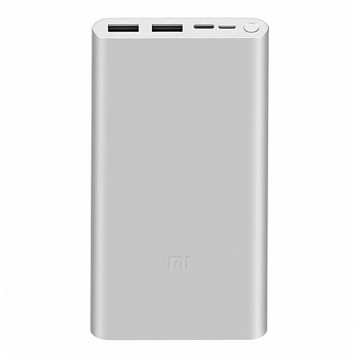 Внешний аккумулятор Xiaomi Mi 18W Fast Charge Power Bank 3 (RU) (PLM13ZM) (10000mAh) (серебристый)