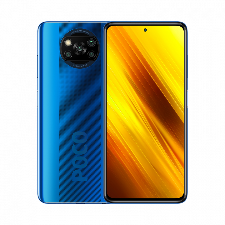 Xiaomi POCO X3 6/128Gb РОСТЕСТ (Синий) (NFC)
