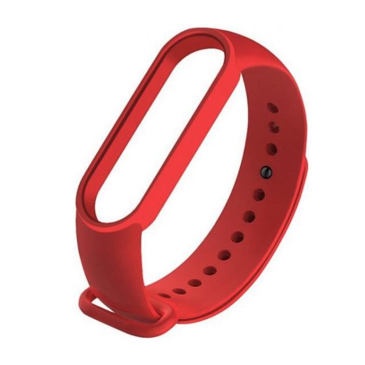 Силиконовый ремешок Xiaomi Mi Band 5/ Mi Band 6 (Красный)