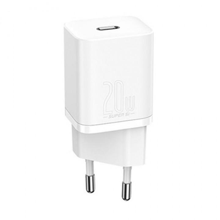 Зарядное устройство Baseus Home Charger Super Si Type-C 20W White (EU) (CCSUP-B02) (Белый)