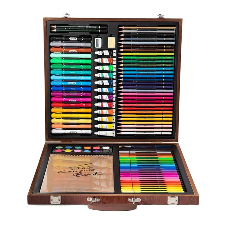 Набор для рисования Xiaomi DELI Painting Set Wooden Box (1 set / box)