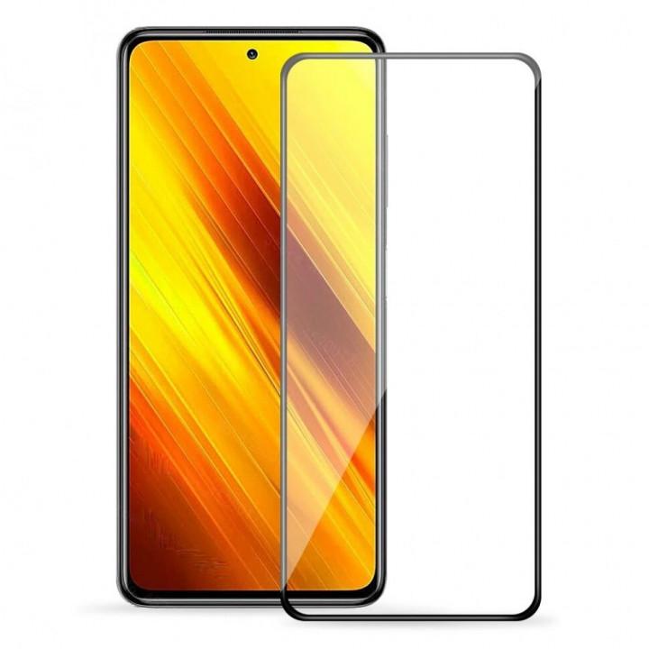 Защитное стекло AUZER Xiaomi POCO F3 (Черное)