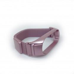 Ремешок миланская петля для Xiaomi Mi Band 5/ Mi Band 6 (Матовый розовый)