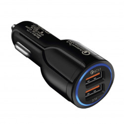 Автомобильное зарядное устройство AUZER ACC4 (QC 3.0/2USB)(9-23K)(Черный)