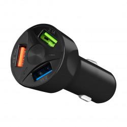 Автомобильное зарядное устройство AUZER ACC5 (QC 3.0/3USB)(Черный)