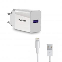 Сетевое зарядное устройство AUZER AWC4L с кабелем Lightning (QC 3.0/1USB/3,5А/18W)(Белый)