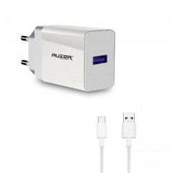 Сетевое зарядное устройство AUZER AWC4T с кабелем Type-C (QC 3.0/1USB/3,5А/18W)(Белый)