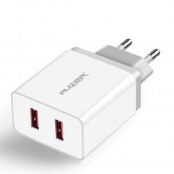 Сетевое зарядное устройство AUZER AWC3 (QC 3.0/2USB/4А/20W)(Белый)