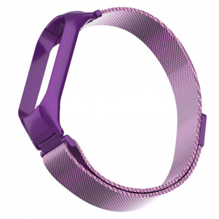 Ремешок миланская петля для Xiaomi Mi Band 5 (Фиолетовый)