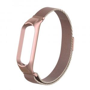 Ремешок миланская петля для Xiaomi Mi Band 5 (Розовое золото)
