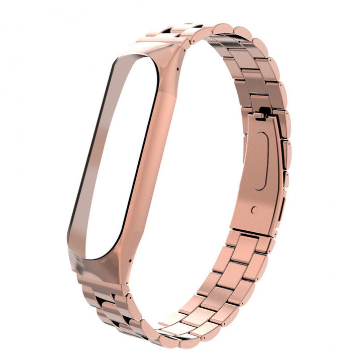Металлический браслет Xiaomi Mi Band 4 (Розовое Золото)