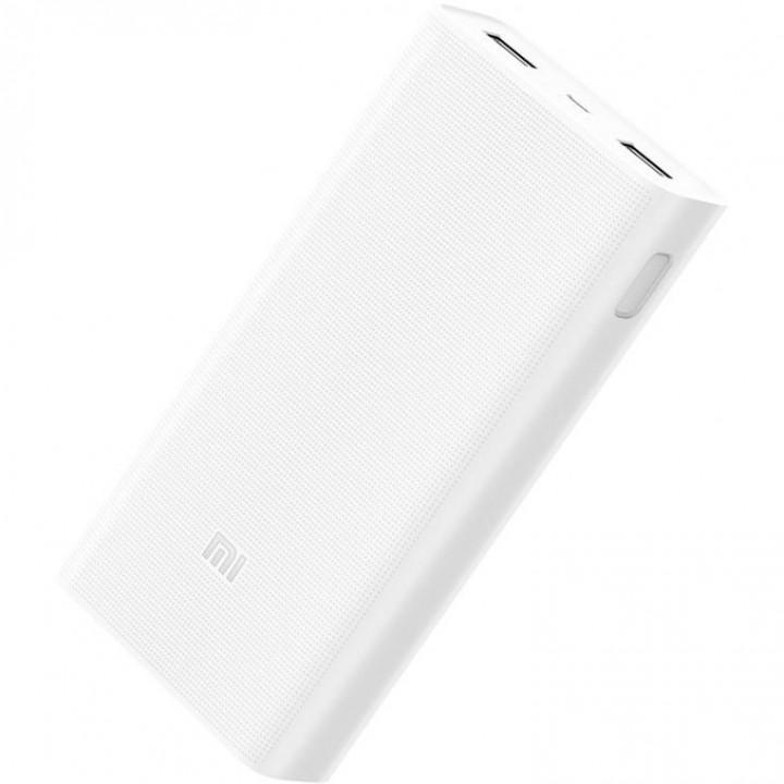 Внешний аккумулятор Xiaomi Mi Power Bank 2C (PLM06ZM) (20000mAh) (Белый)