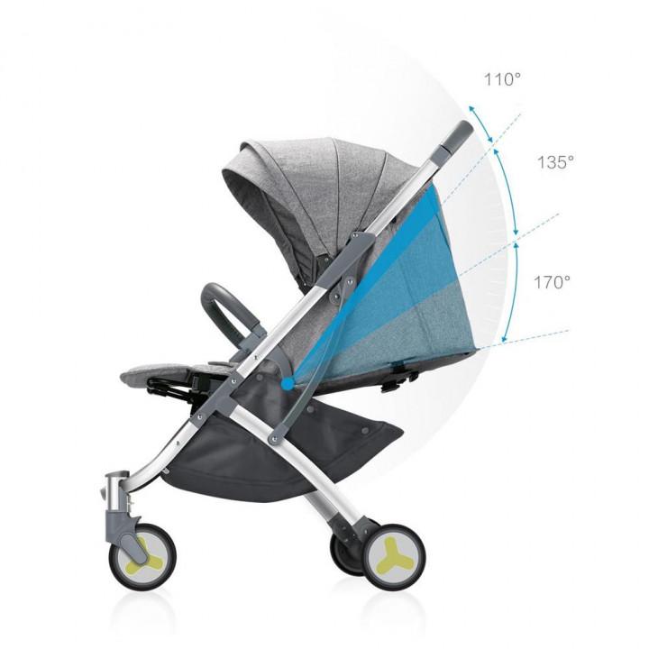 Детская коляска Xiaomi BEBEHOO Lightweight Start Baby Stroller (Серая)