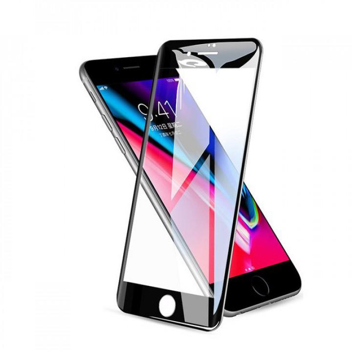 Защитное стекло iPhone 6Plus/6SPlus (Черное)