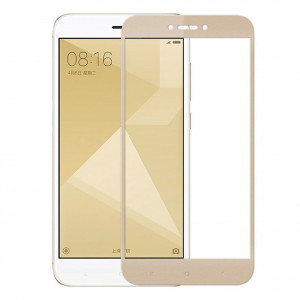 Защитное стекло Xiaomi Redmi 4X/5A/GO (Золотое)