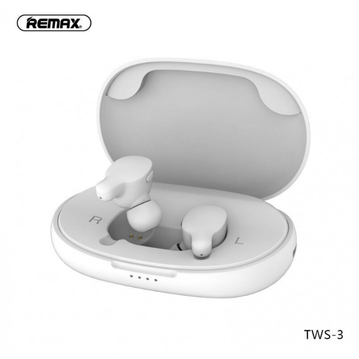 Беспроводные наушники REMAX True WIreless Atereo Headset TWS-3 (Белые)
