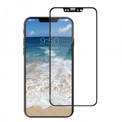 Защитное стекло iPhone Xs Max (Черное)