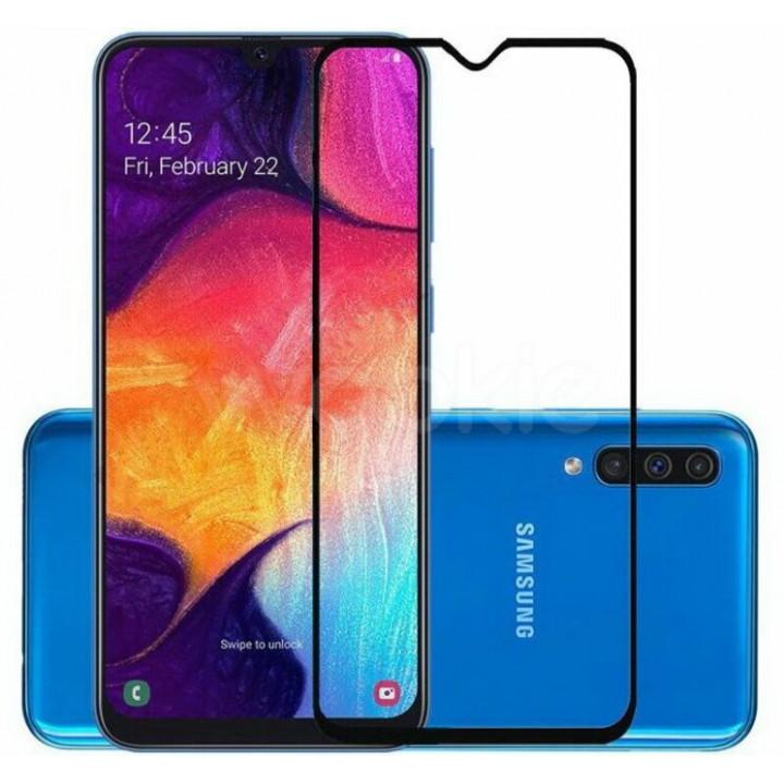 Защитное стекло Samsung Galaxy A50 (Черное)