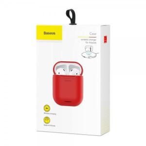 Чехол с беспроводной зарядкой для Apple AirPods Baseus Case Wireless Charger (WIAPPOD-09) (Красный)