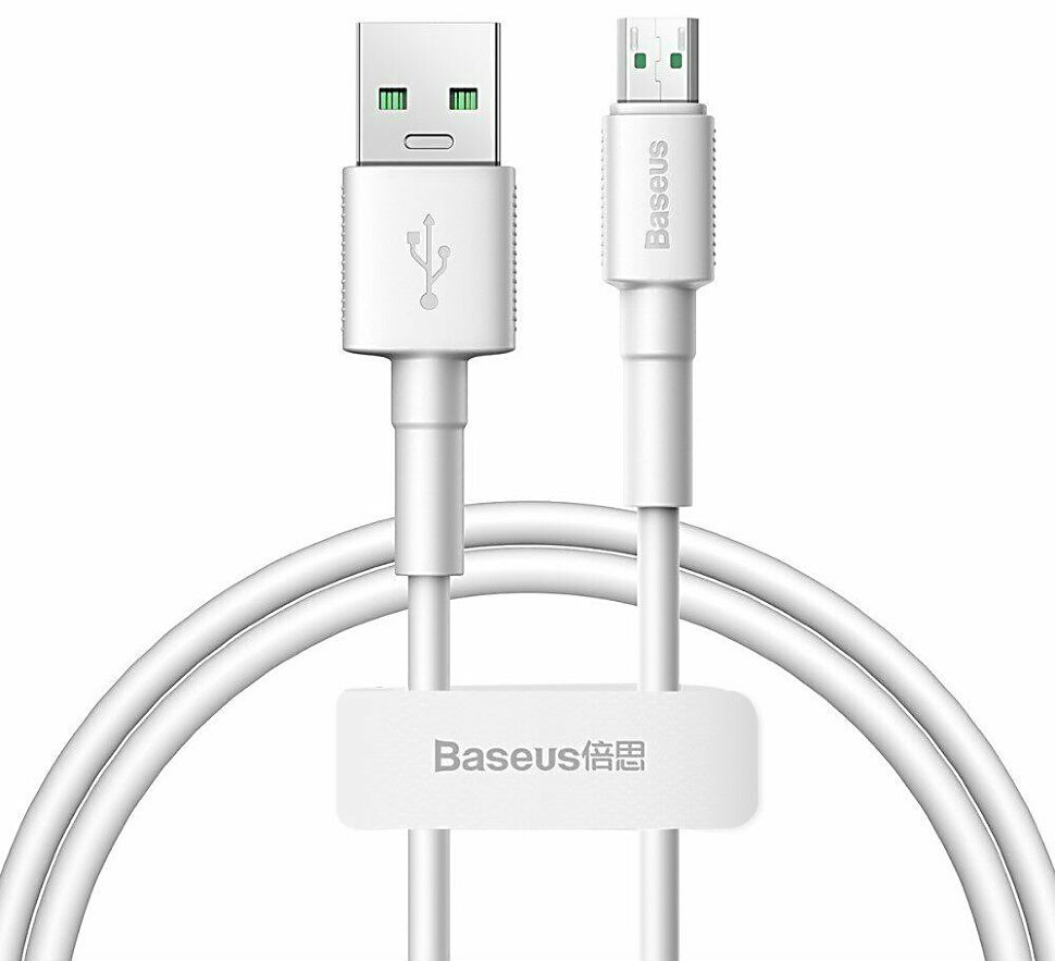Изображение - Кабель Baseus Mini White Cable USB For Micro-USB