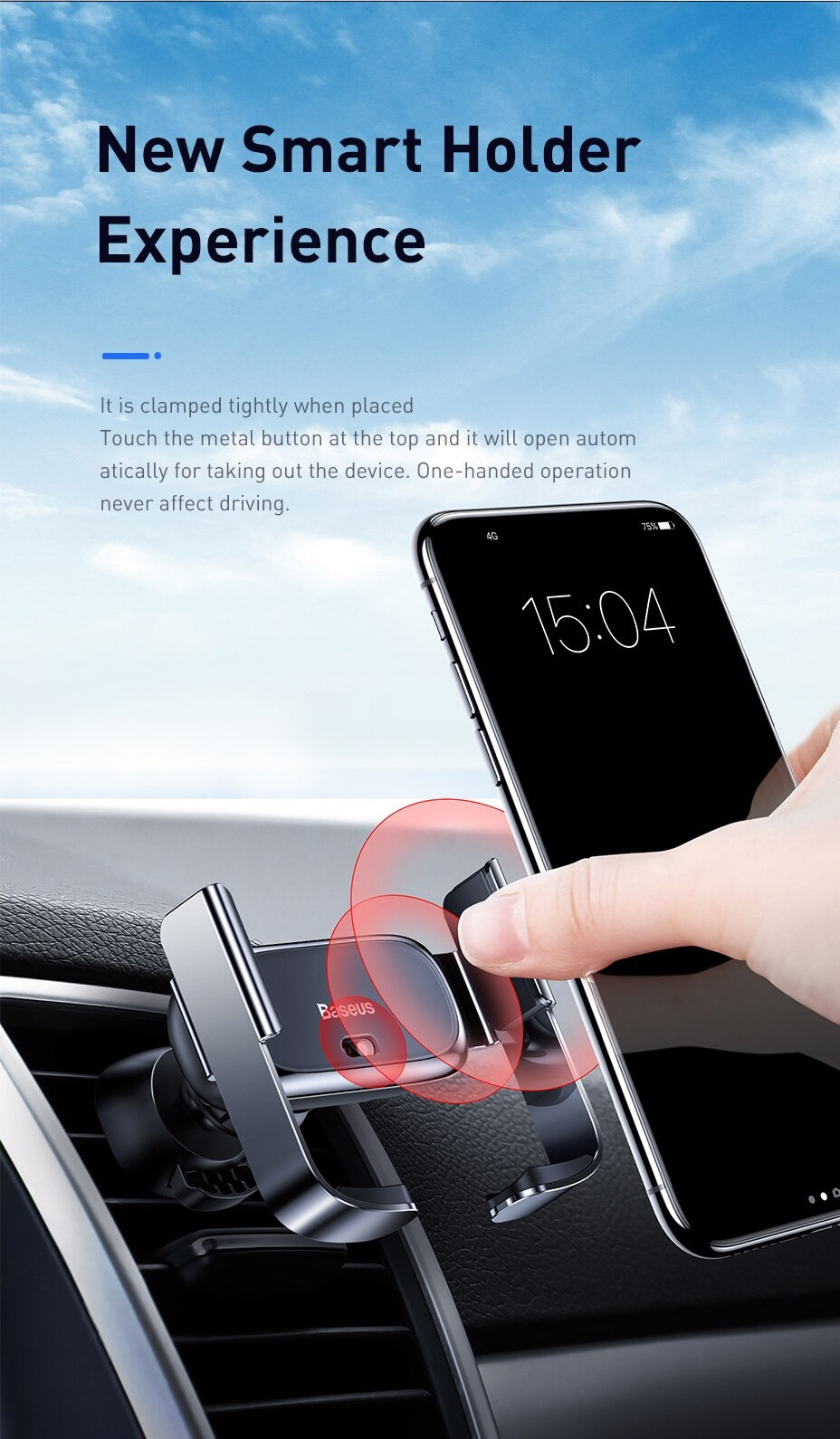 Изображение - Автомобильный держатель Baseus Mini Car Phone Holder