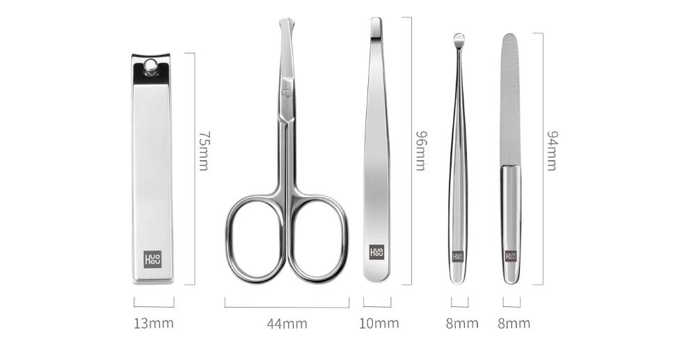 Маникюрный набор Huo Hou Stainless Steel Nail Clippers (5 предметов)