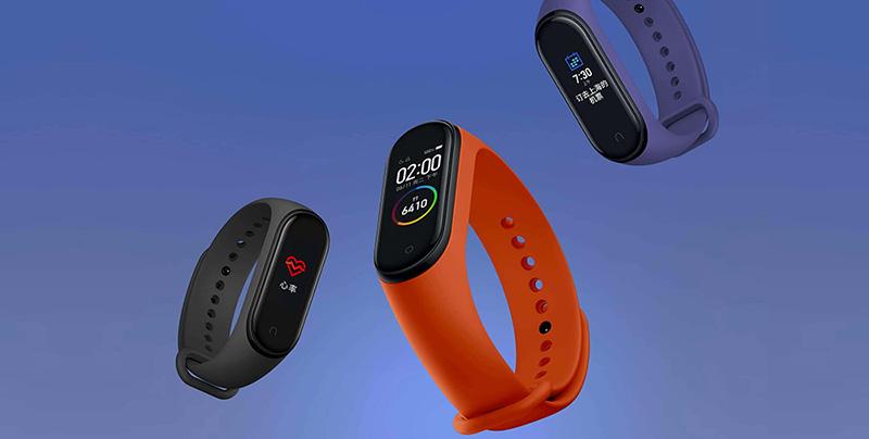Изображение - оранжевый фитнес-браслет Xiaomi Mi Band 4