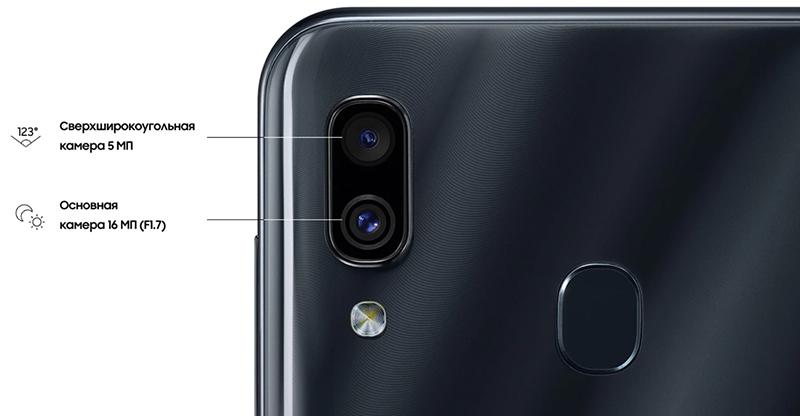 Изображение - камера Samsung Galaxy A30 Черный