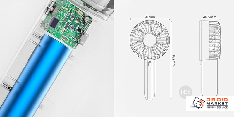 Вентилятор Xiaomi VH с аккумулятором и USB