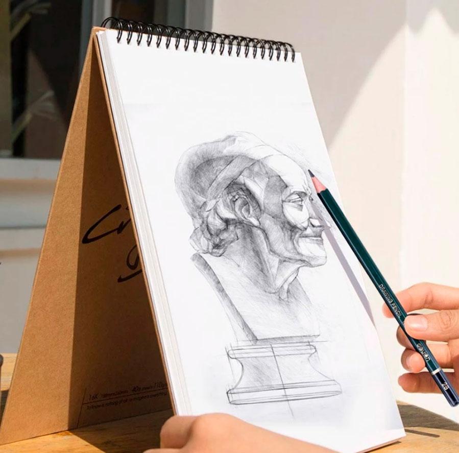 Opisanie Nabor Dlya Risovaniya Xiaomi Deli Painting Set Wooden Box 3